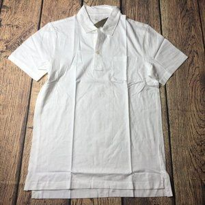J. Crew Mercantile S WHT Washed Pocket Polo Shirt